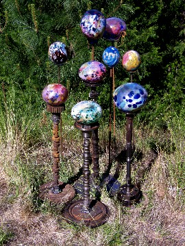 Exceptionnel Hand Blown Glass Garden Art    Garden Globes  Hand Blown Glass Balls